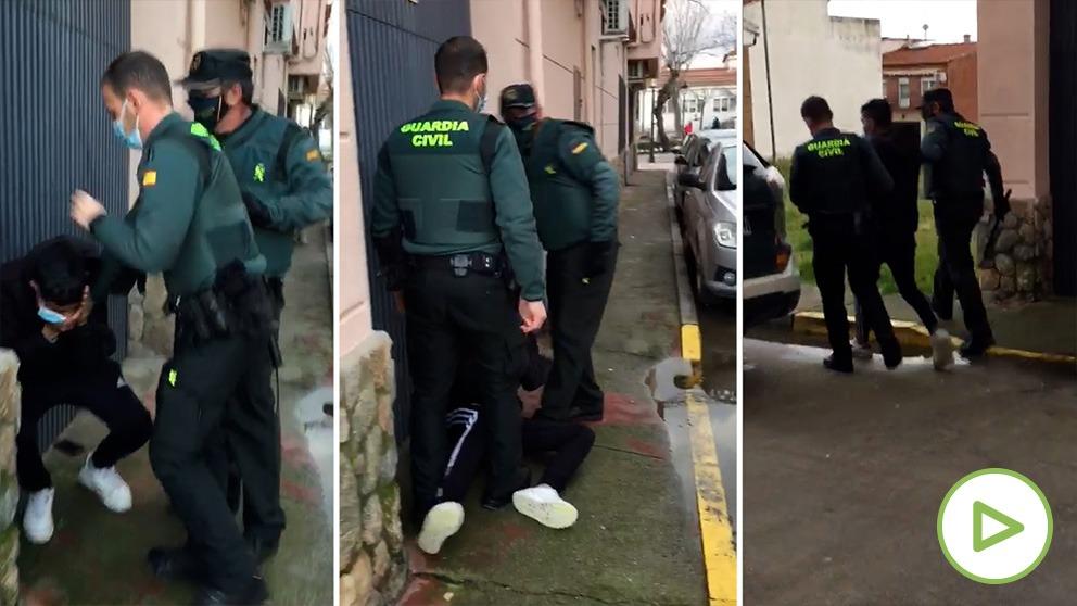 El vídeo de un vecino demuestra la falsa agresión que un joven atribuye a un guardia civil durante su detención.