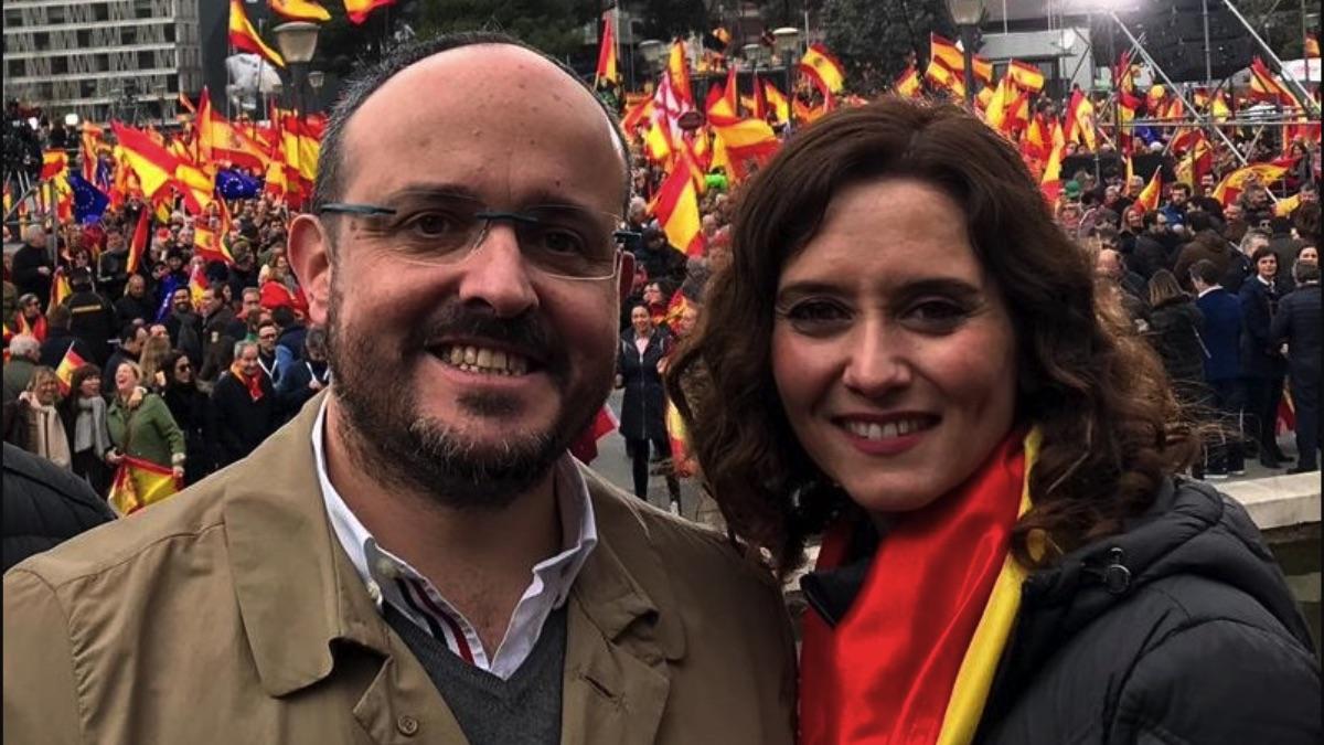Alejandro Fernández e Isabel Díaz Ayuso en imagen de archivo.