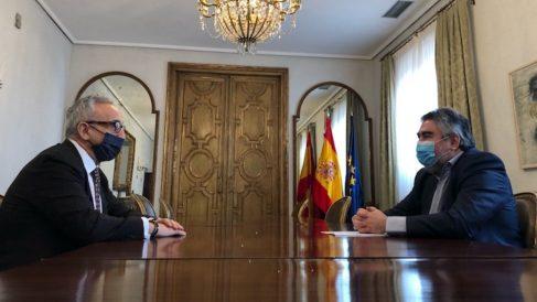 Uribes y Blanco se reunieron de forma presencial en el Ministerio de Cultura y Deportes.
