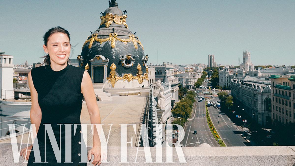 La ministra de Igualdad, Irene Montero, en una de las fotografías realizadas para su última entrevista para la revista Vanity Fair.