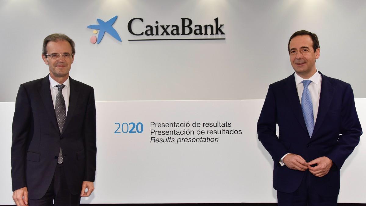 Jordi Gual y Gonzalo Gortázar, presidente y consejero delegado de Caixabank