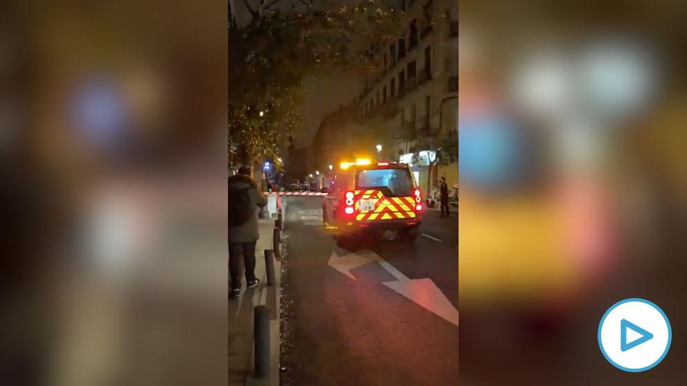 La Policía acordona un edificio de la calle Toledo de Madrid debido a un nuevo escape de gas.
