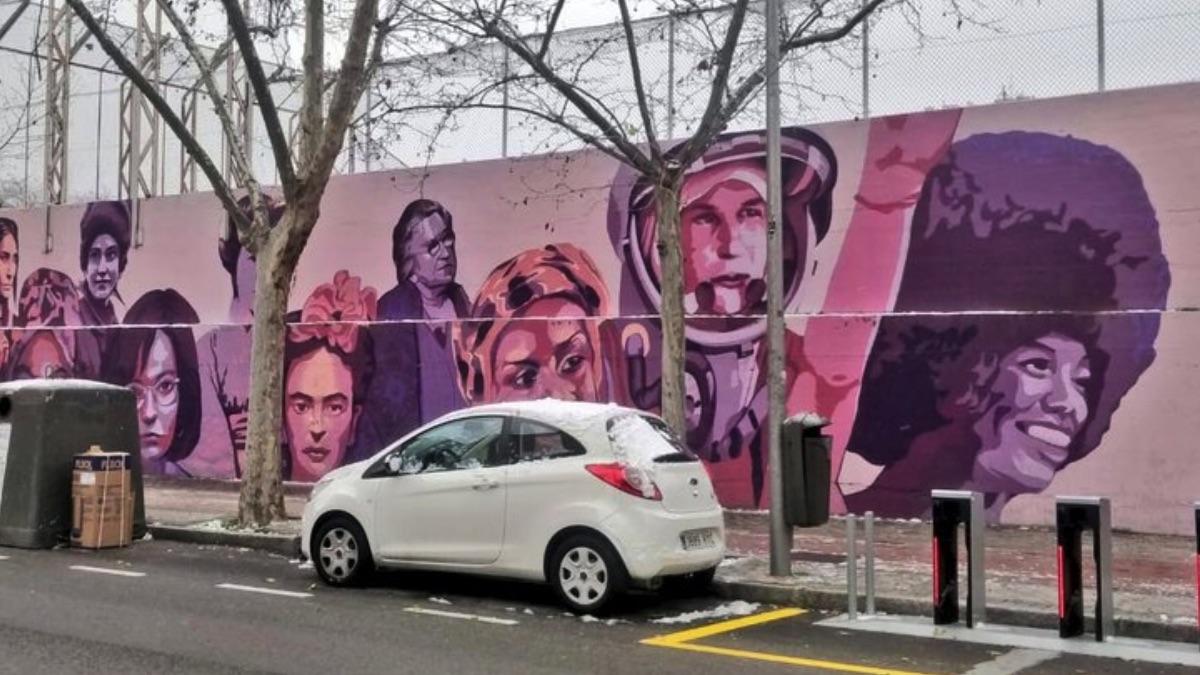 Mural de la polémica en Ciudad Lineal.