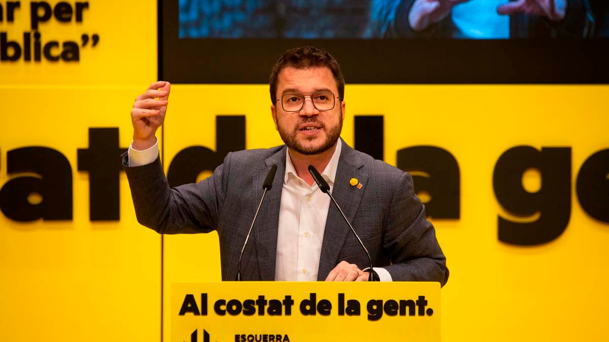 El presidente en funciones de la Generalitat de Cataluña, Pere Aragonès. (Foto: EP)