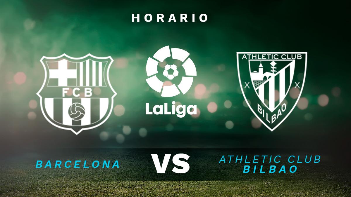 Barcelona – Athletic de Bilbao: horario y dónde ver en directo por TV el partido de Liga Santander.