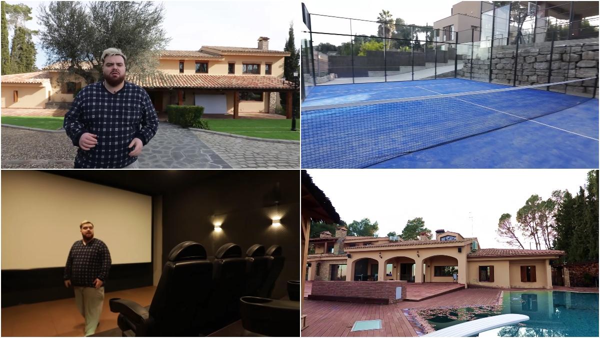 Así es la mansión de Ibai Llanos