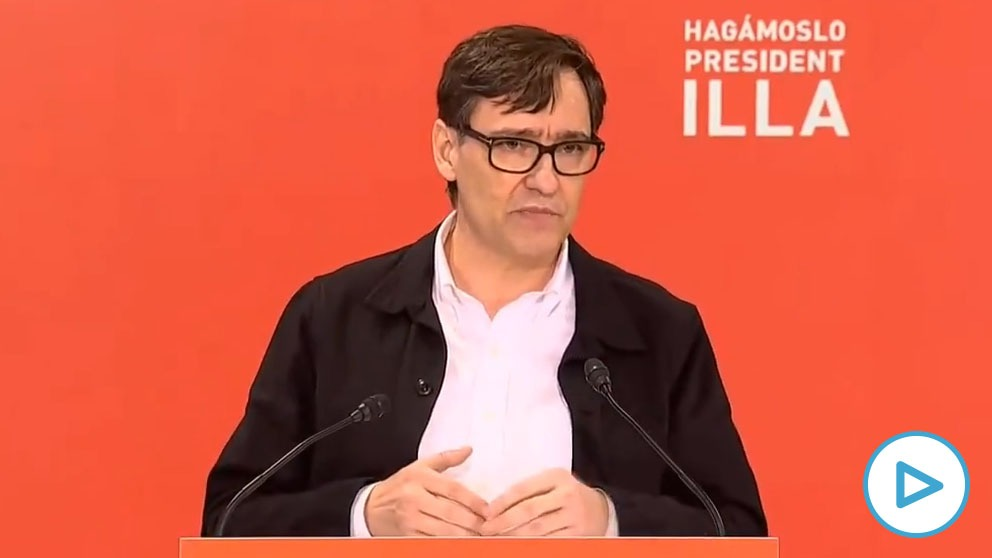 El candidato del PSC a la Presidencia de la Generalitat, Salvador Illa.