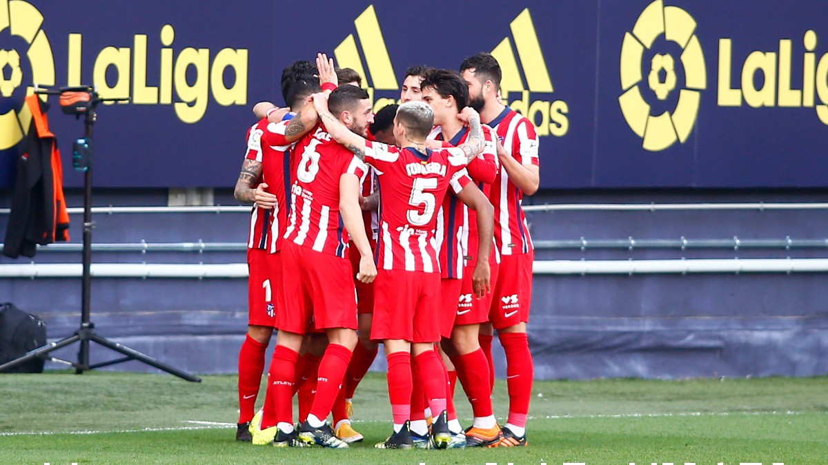 Los jugadores del Atlético de Madrid celebran un gol contra el Cádiz. (Getty)
