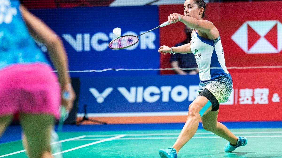 Carolina Marín, durante un partido. (AFP)