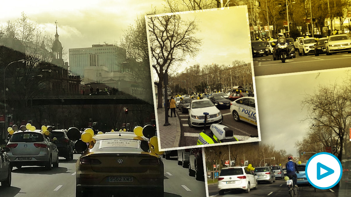 Caravana de coches en Madrid contra el abuso de la temporalidad en la administración