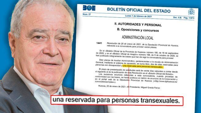 La Diputación de Huesca, del PSOE, prima a los transexuales en unas oposiciones