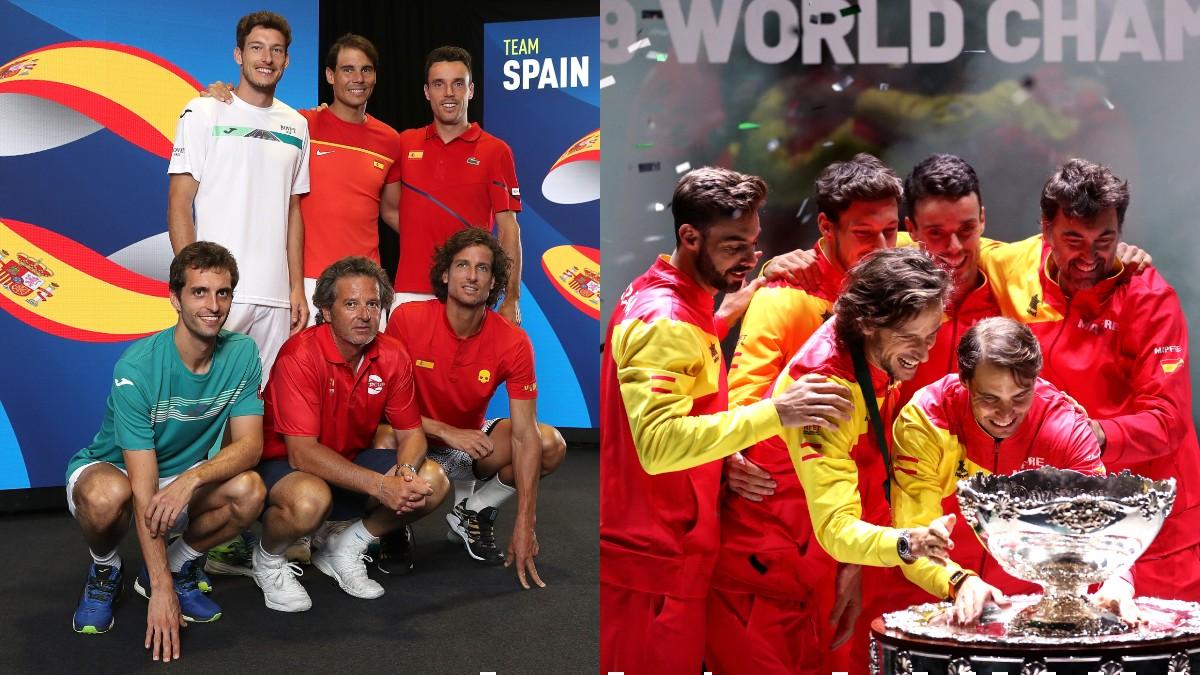 El equipo español de la ATP Cup 2020 y la Copa Davis 2019. (Getty)
