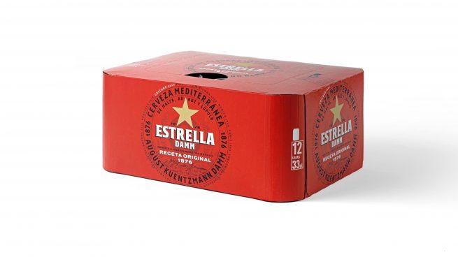Estrella Damm elimina los plásticos decorados que envuelven los packs de latas