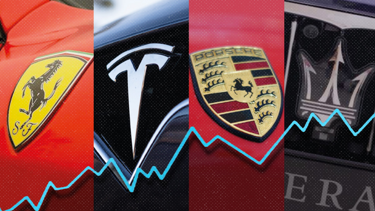 Las ventas de Ferrari, Tesla, Porsche y Maserati se disparan en pleno desplome del mercado
