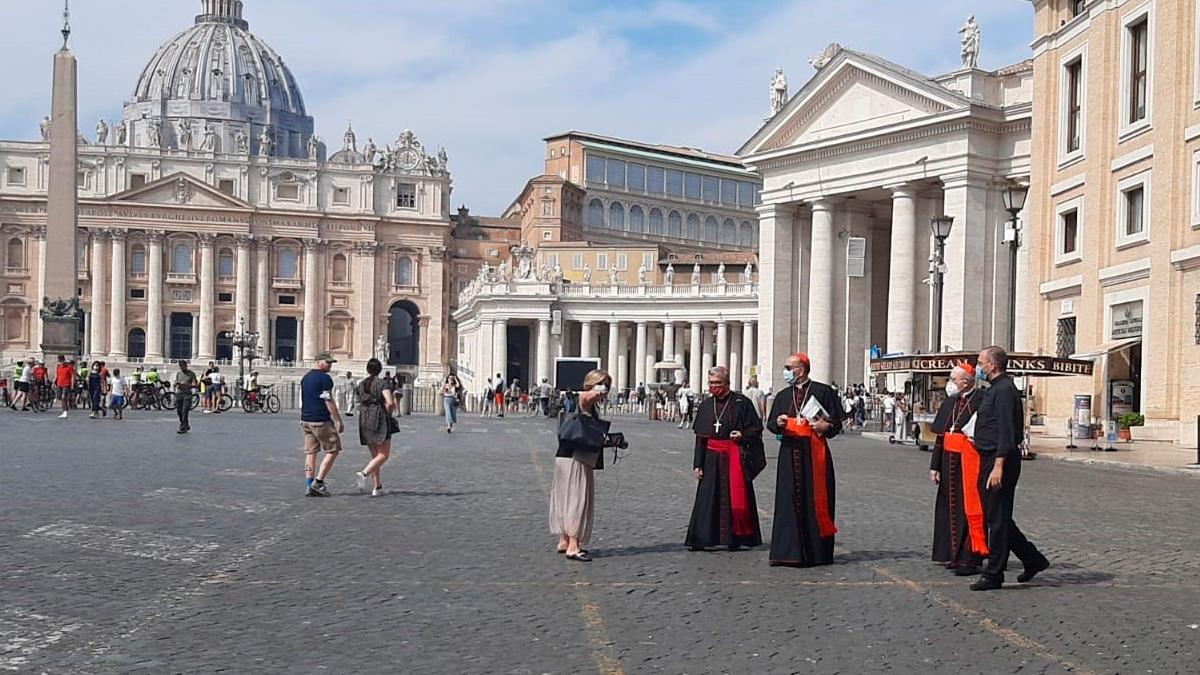 La plaza de San Pedro en el Vaticano. Foto: EP