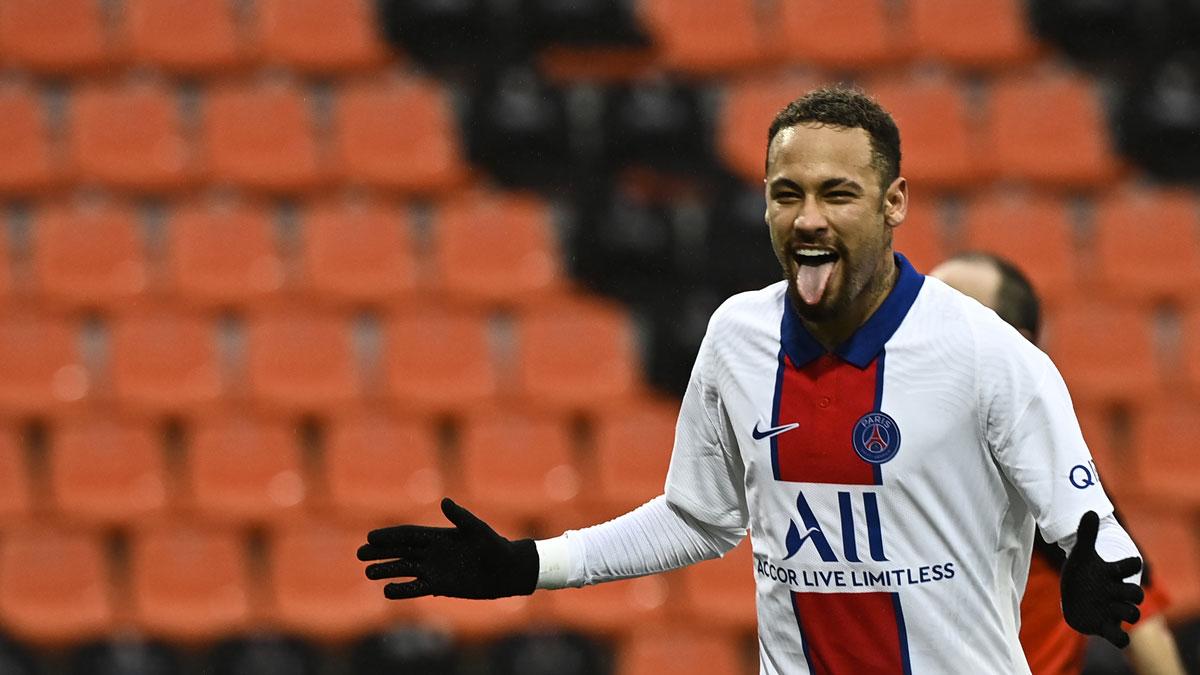 Neymar, tras marcar un doblete con el PSG. (AFP)