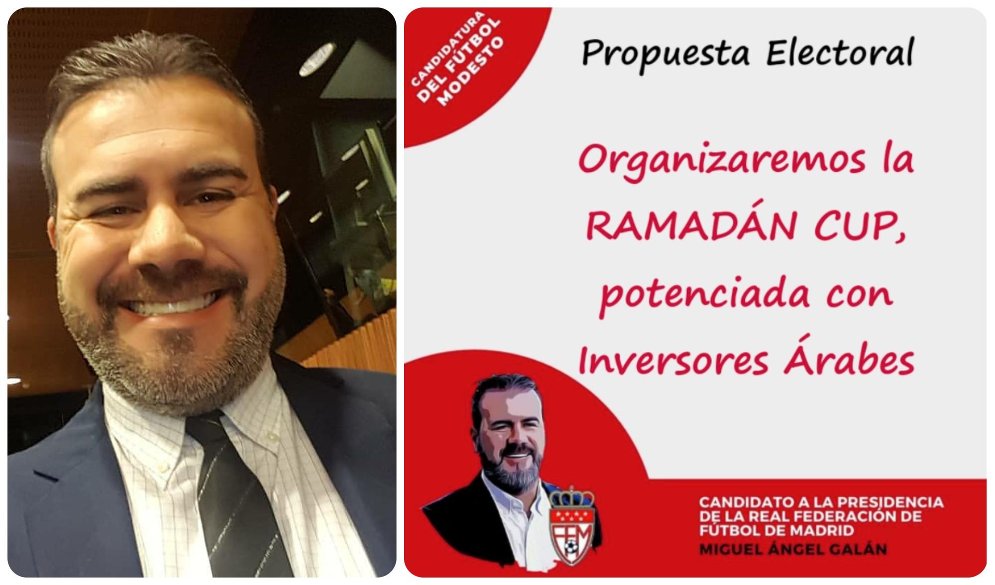 Miguel Galán quiere promover la Ramadán Cup en Madrid.