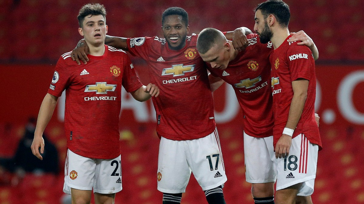 Los jugadores del Manchester United celebran un gol ante el Southampton. (Getty)