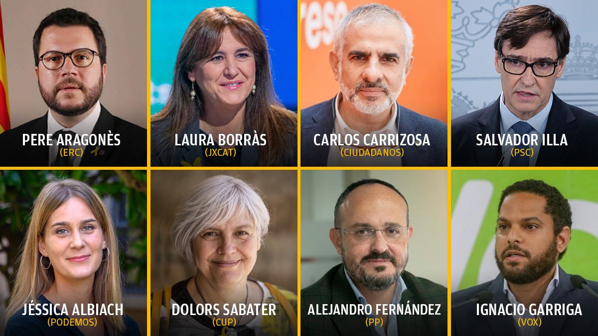 Estos son los principales candidatos a las elecciones autonómicas catalanas del 14-F.
