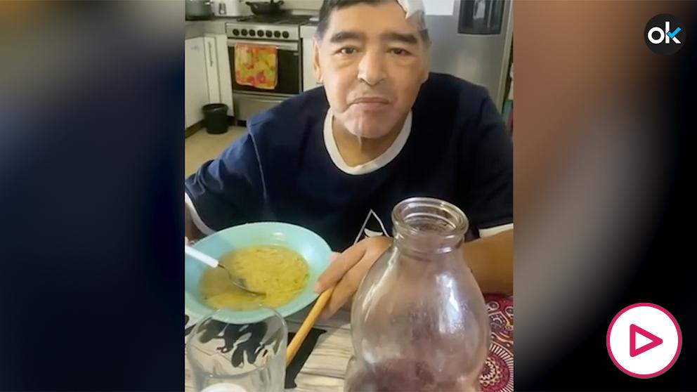 Sale a la luz el último vídeo de Maradona antes de morir.