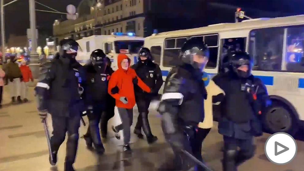 1.400 detenidos en unas protestas en Rusia