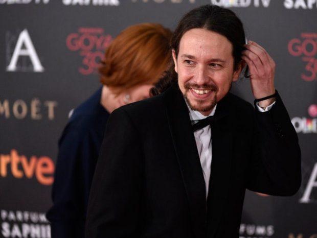 Pablo Iglesias en las entrega de los Premios Goya 2016, la 30ª edición.