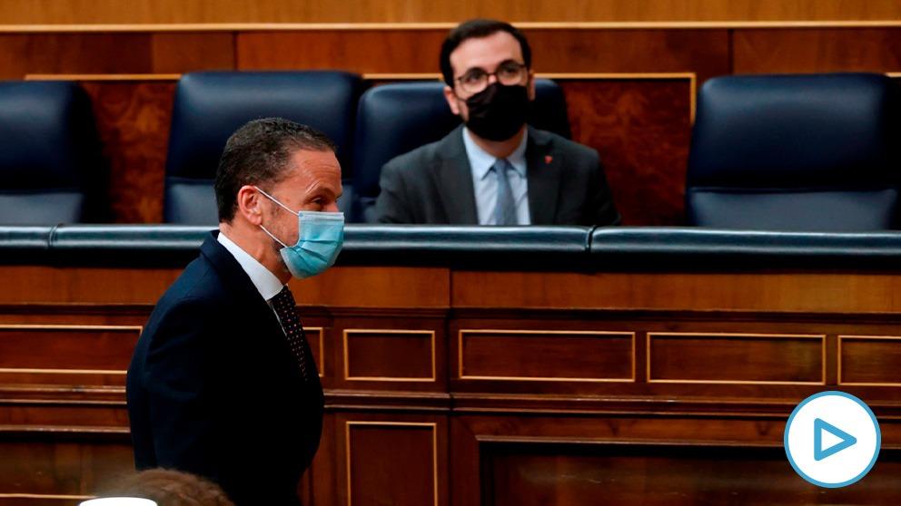 Edmundo Bal (Cs) ha desmontado la defensa del decreto de Garzón que ampara las 'okupaciones'. (Foto: EFE)