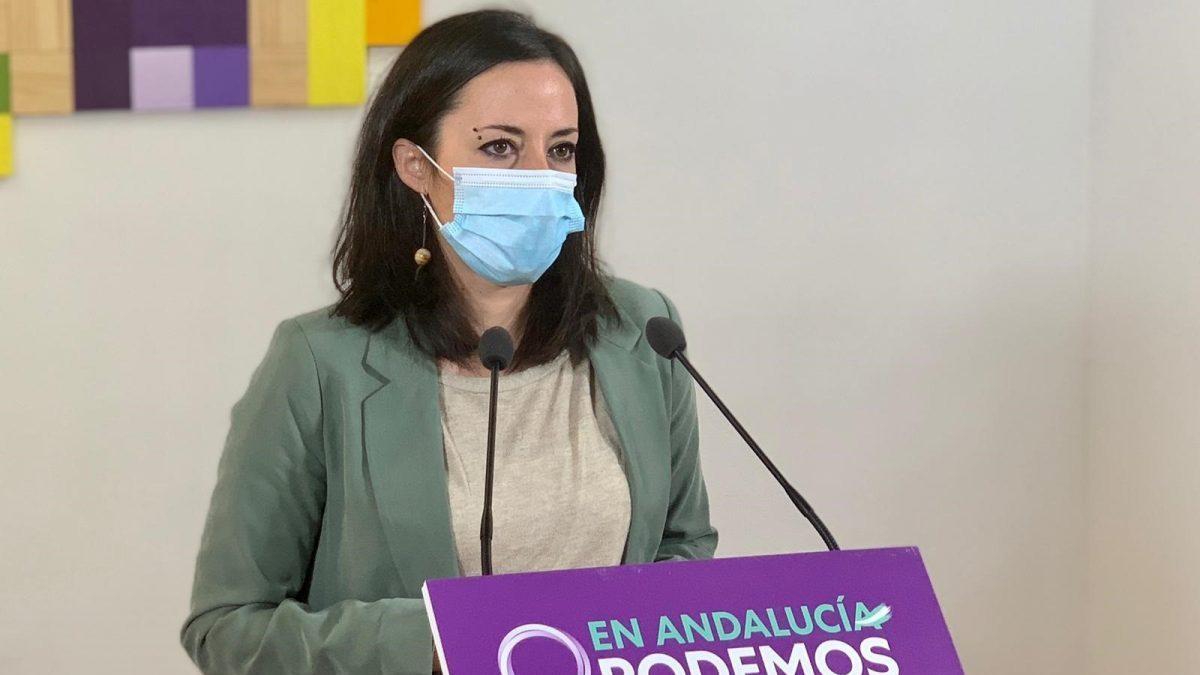 La secretaria política de Podemos Andalucía y diputada en el Congreso, Isabel Franco.