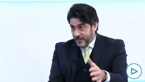 El consejero de Administración Local y Vivienda de la Comunidad de Madrid, David Pérez.