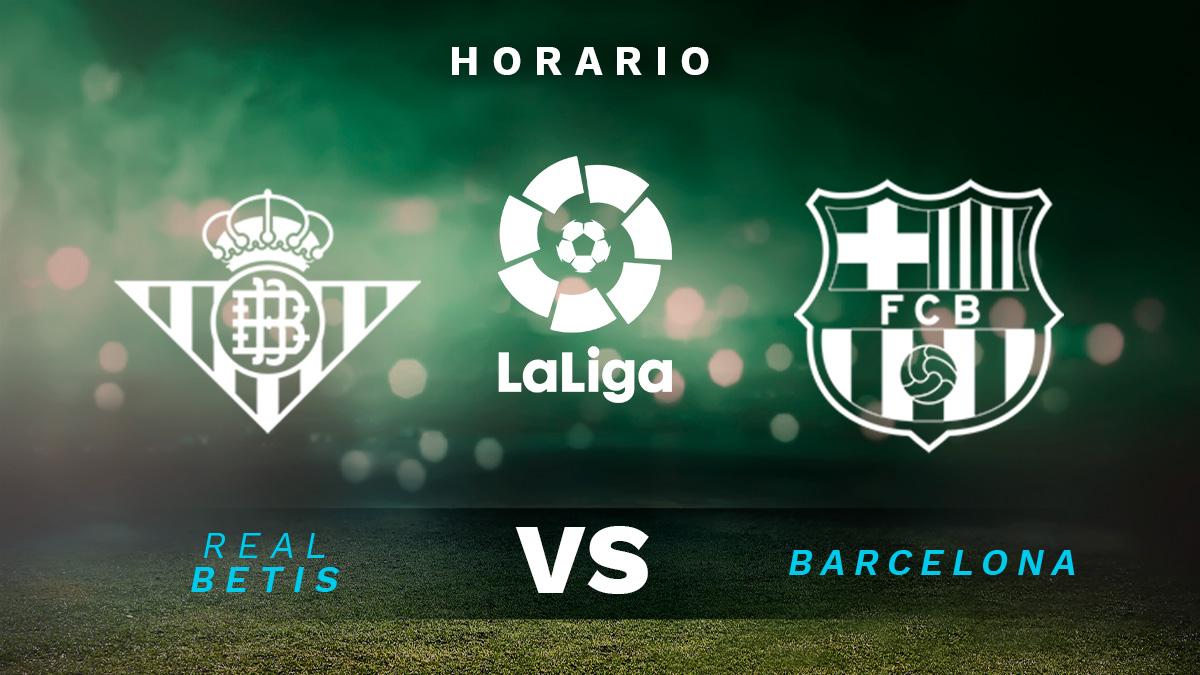 Liga Santander 2020-2021: Betis – Barcelona| Horario del partido de fútbol de la Liga Santander.