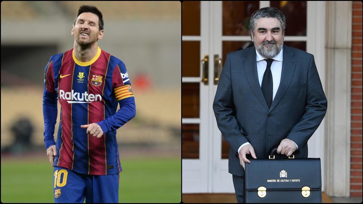 El ministro de Cultura y Deporte, José Manuel Rodríguez Uribes, habla sobre el contrato de Leo Messi.