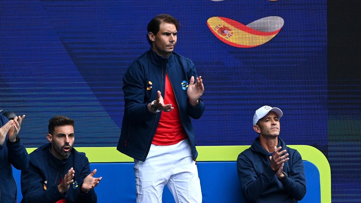 Nadal anima a España en la ATP Cup. (Getty)