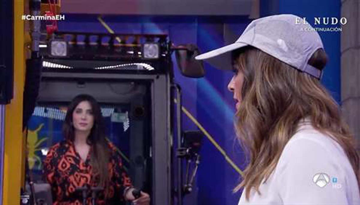 Pilar Rubio y Nuria Roca durante el reto (Atresmedia)