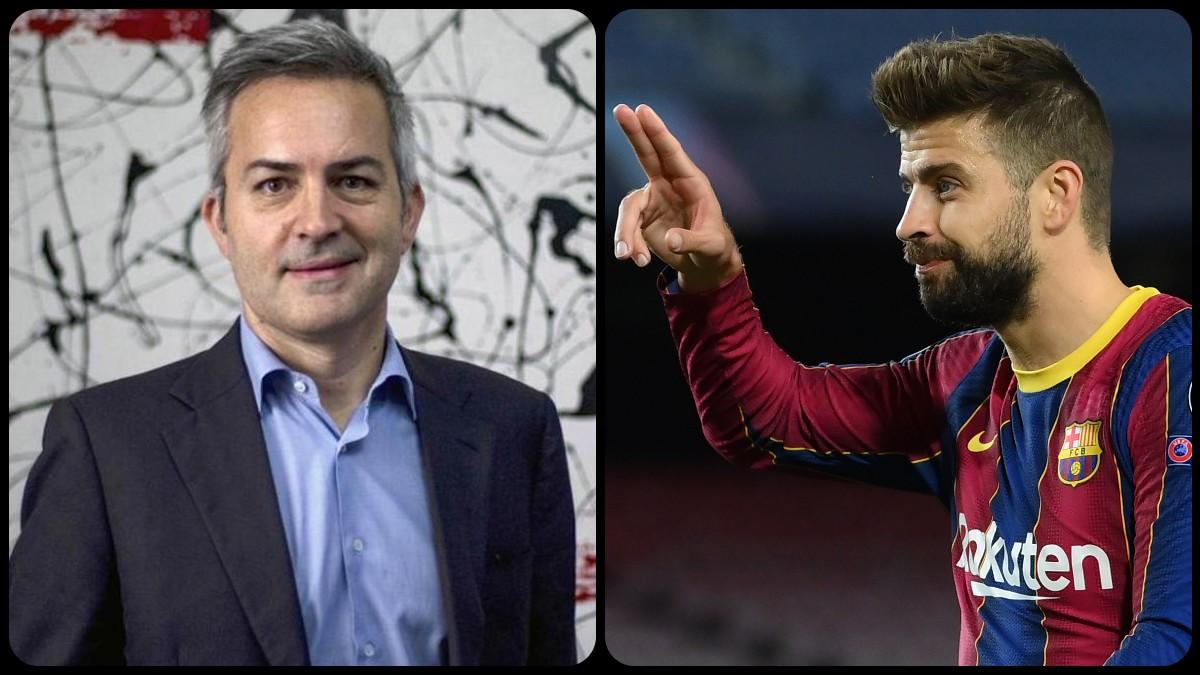 Piqué 'sentencia' a Víctor Font en redes sociales. (AFP)