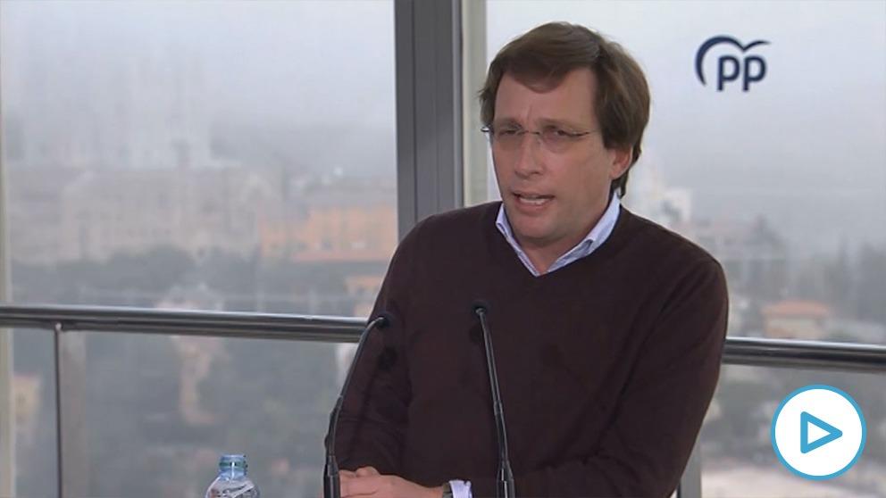 El alcalde de Madrid, José Luis Martínez-Almeida, este sábado en Barcelona.