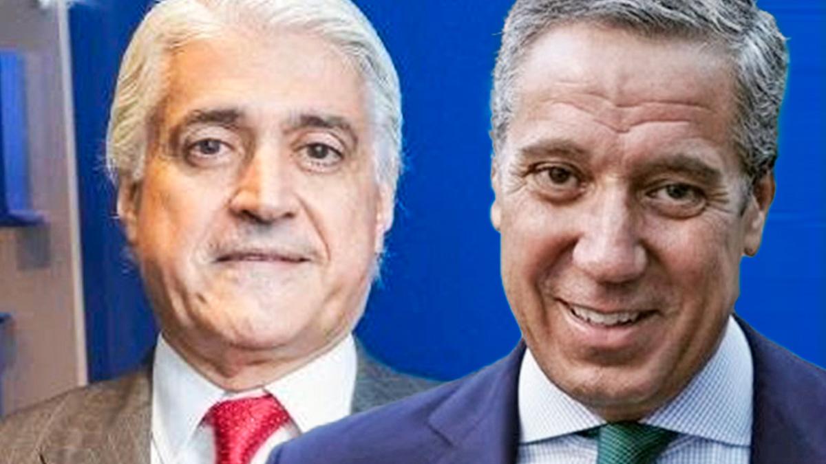 El supuesto «testaferro» uruguayo Fernando Belhot y el ex presidente de la Comunidad Valenciana Eduardo Zaplana.