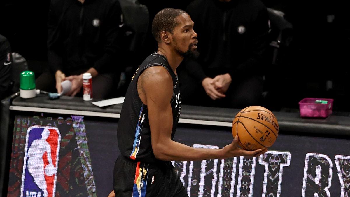 Kevin Durant, en el partido ante los Raptors. (Getty)