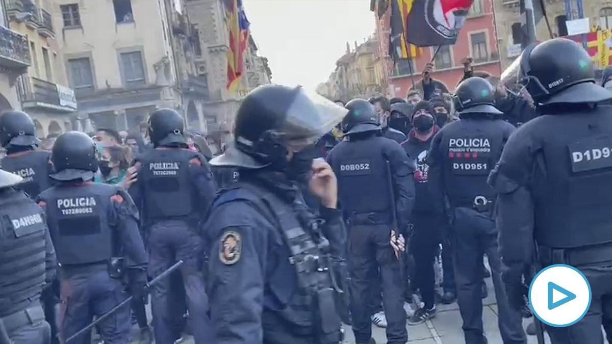 Mitin de Vox, en Vic (Barcelona).