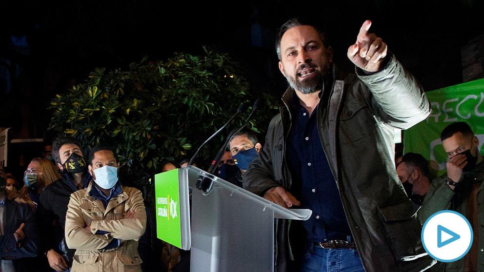 Abascal en el mitin de Hospitalet de Llobregat.