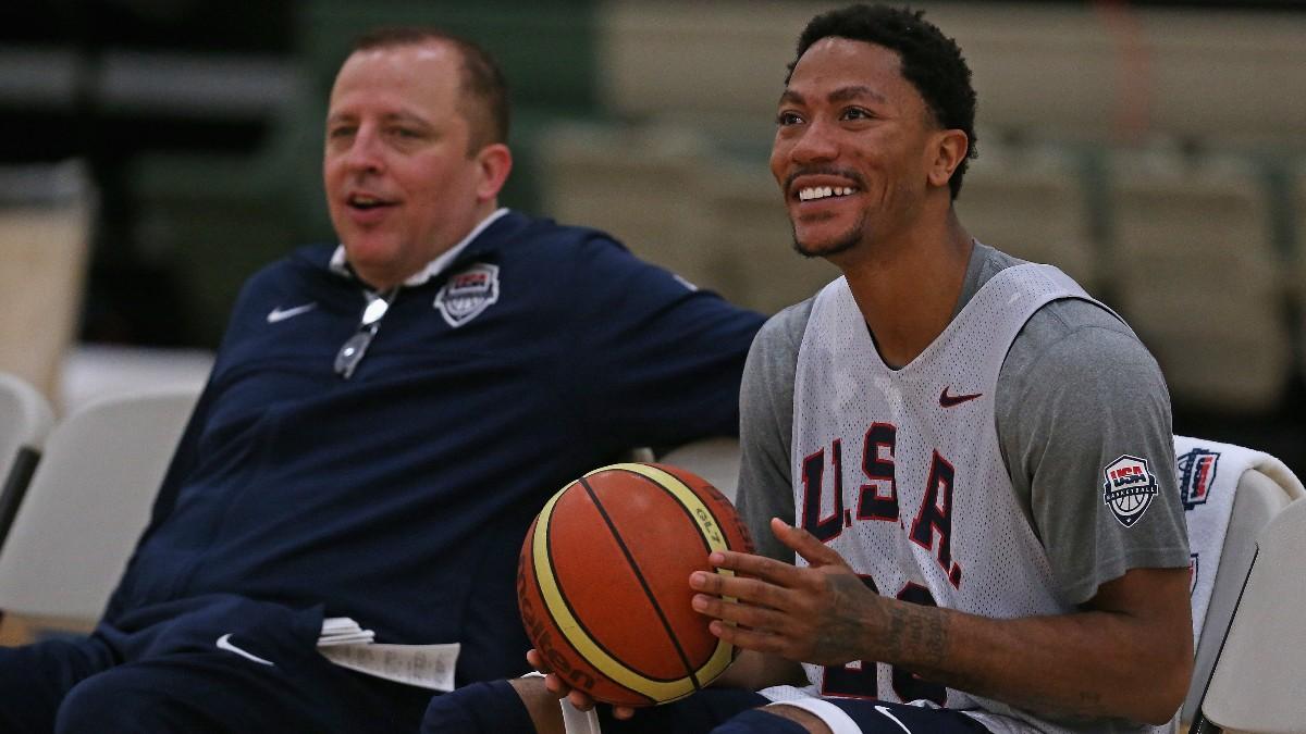Derrick Rose también estuvo con su entrenador predilecto en la selección de Estados Unidos.