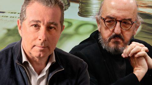 El ex jefe de prensa de Jordi Pujol y Xavier Trias, Marc Puig, y el millonario Jaume Roures, dueño del diario podemita 'Público'.