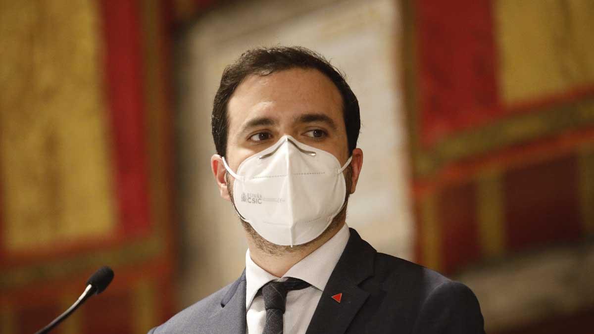 El ministro de Consumo, Alberto Garzón. Foto: Europa Press
