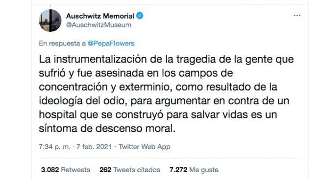El Museo de Auschwitz advierte que compararlo con el hospital de Ayuso es una «bajeza moral»