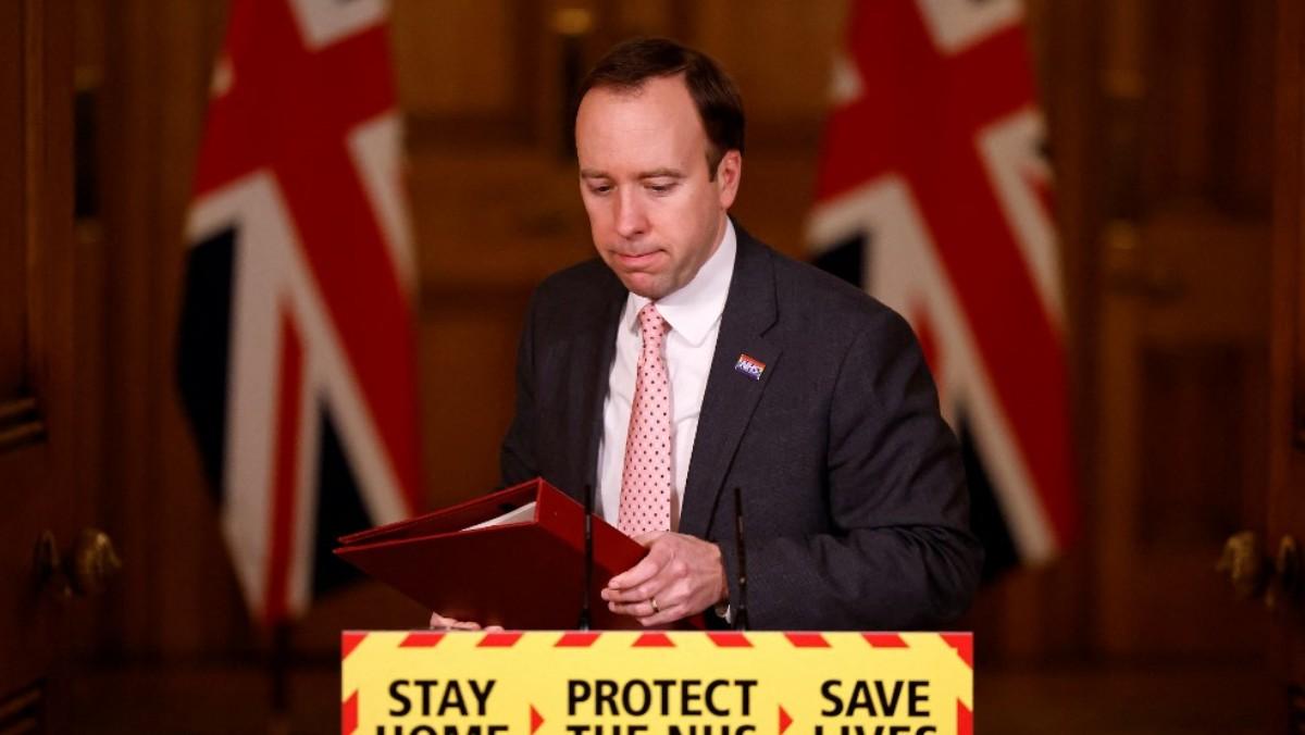 El ministro de Sanidad británico, Matt Hancock. Foto: AFP