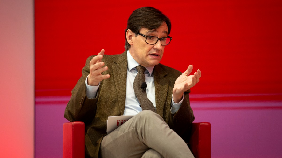 El candidato del PSC a las elecciones catalanas del 14-F y ex ministro de Sanidad, Salvador Illa. (Foto: Europa Press)