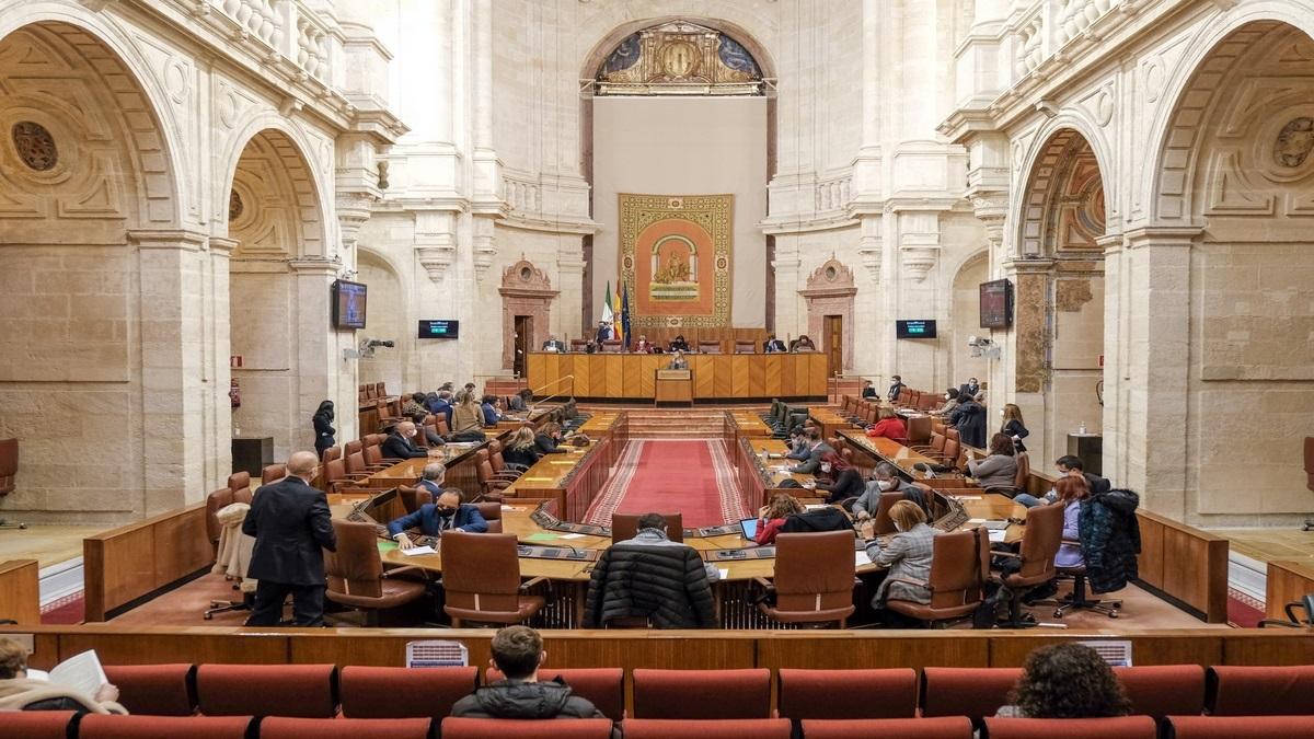 Sesión de Pleno en el Parlamento andaluz.