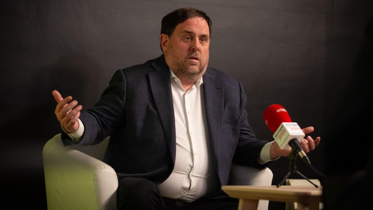 El líder de ERC y exvicepresidente del Govern de la Generalitat, Oriol Junqueras. Foto: EP