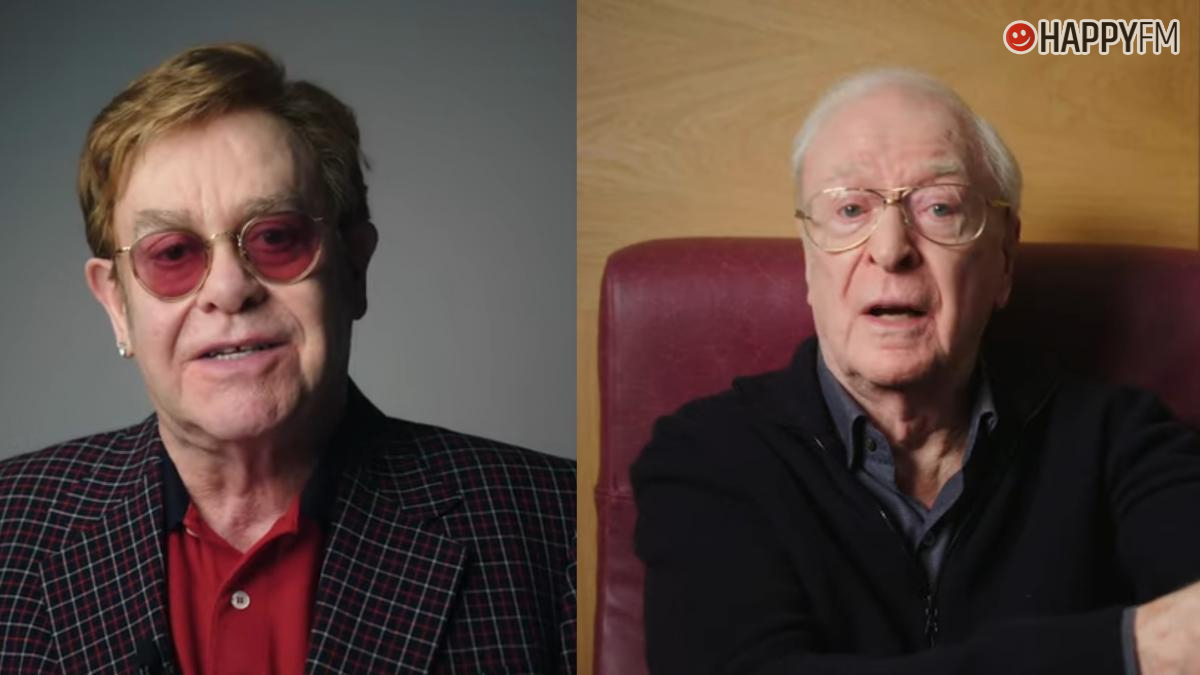 Elton John y Michael Caine