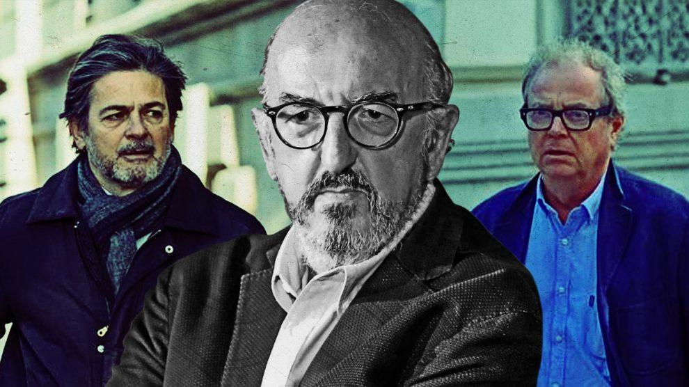 Oriol Pujol Ferrusola, Jaume Roures y Oriol Carbó, responsable de la productora Triacom Audiovisual.