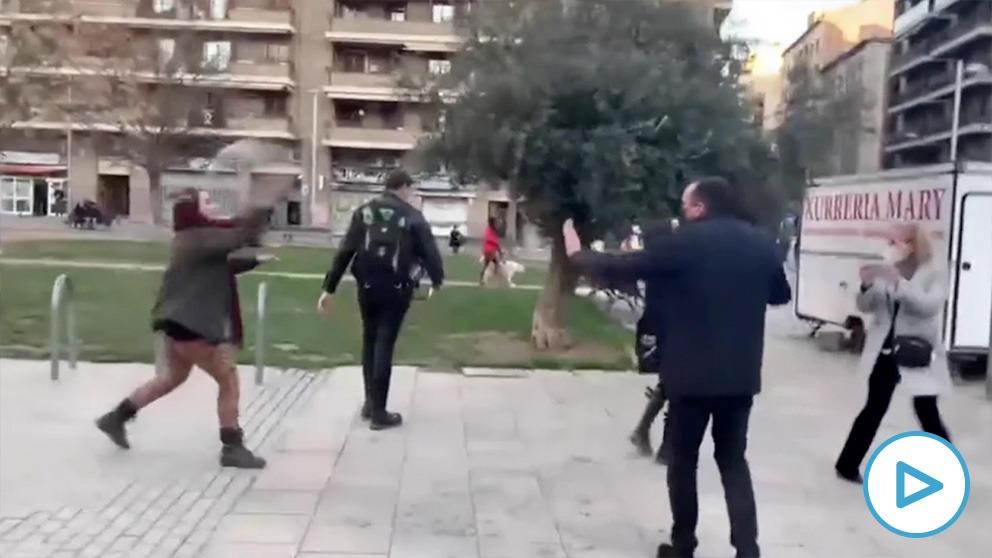 Violencia contra miembros de Vox en Lérida.